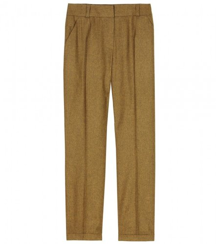 Carven WOOL FLANNEL CROPPED TROUSERS