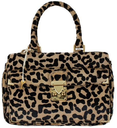 Govett Tote Bag - Leopard Print Calf Hair FINAL SALE