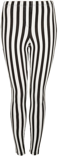 Stripe Denim Look Leggings