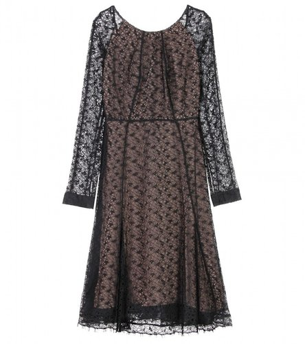 Erdem GISELLE LACE OVERLAY DRESS