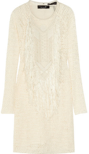 Isabel Marant Mana fringed stretch-lace dress