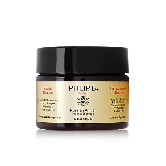 One of the most expensive hair cleansers out there, Philip B Russian Amber Imperial Shampoo ($140) is pure decadence in a jar. The rich, honey-like shampoo is packed with amino acids, amber oil, vitamin B5, and botanical emollients to restore dry, dull, and over-processed hair. This shine-enhancer works on all hair types, too.