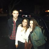 A fan snapped a photo with Robert Pattinson and Kristen Stewart in LA.