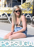 Ellie Goulding Brings Her Bikini Poolside in Miami