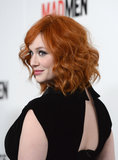 Christina Hendricks wore a black dress.