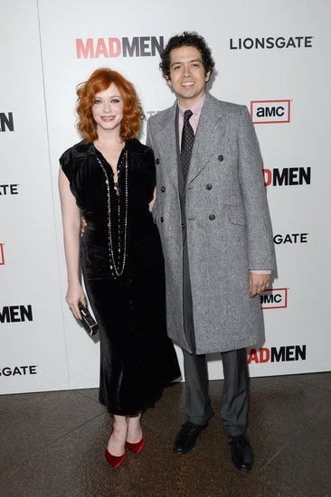 Christina Hendricks arrived with Geoffrey Arend.