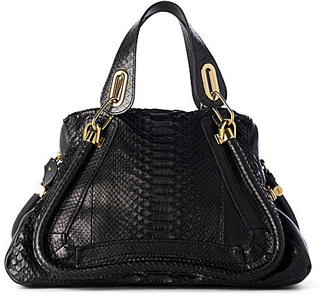 Chloe Paraty python hobo