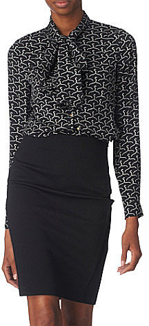 Diane Von Furstenberg Edde pussy-bow blouse