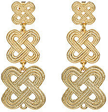 Janna Conner Designs Gold Crisscross Drop Earrings