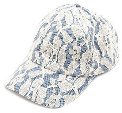 Lace Overlay Baseball Cap