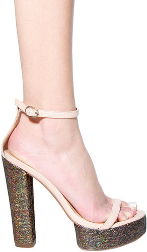Sabine Shoe in Nude Multi Glitter - by Jeffrey Campbell