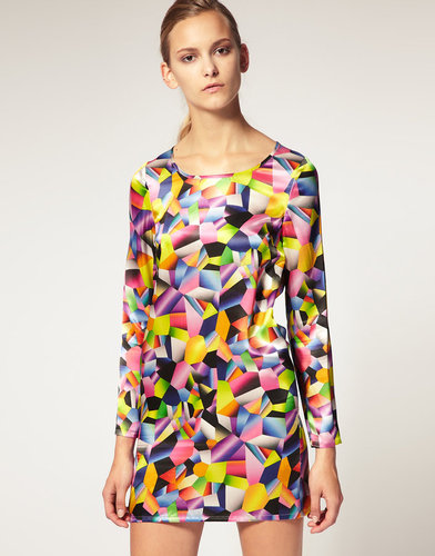Josh Goot for ASOS Printed Silk Dress