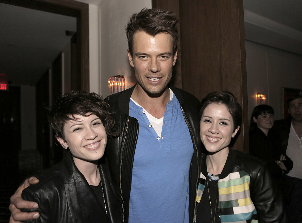 Josh Duhamel chatted with Tegan and Sara.
