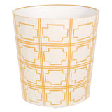 Even your garbage bin can take a pastel spin thanks to this yellow patterned wastebasket ($135).