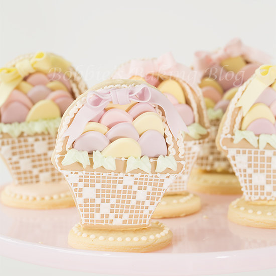 Sugar cookies decorated with royal icing lace