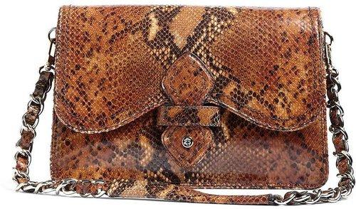 Python-Embossed Flap Bag