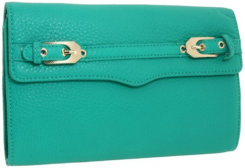 Rebecca Minkoff - Buckled Clutch (Bright Green) - Bags and Luggage