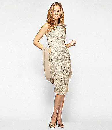Alex Evenings Lace Dress with Shawl