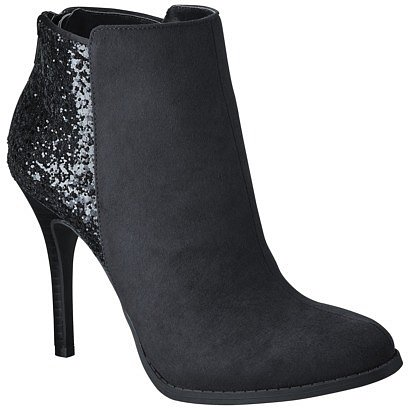 Women's Mossimo® Katley Bling Ankle Boot - Black