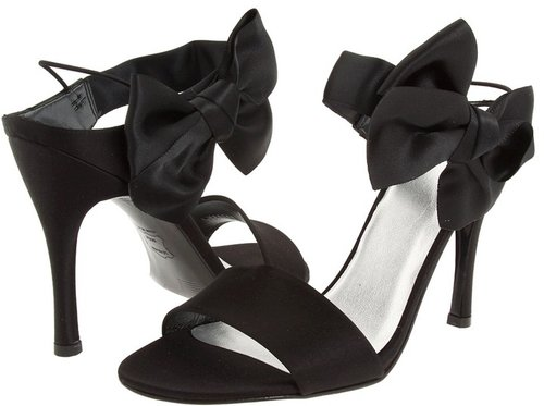 Stuart Weitzman Bridal & Evening Collection - Bigbow (Black Satin) - Footwear