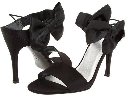 Stuart Weitzman Bridal & Evening Collection - Bigbow (Black Satin) - Footwear