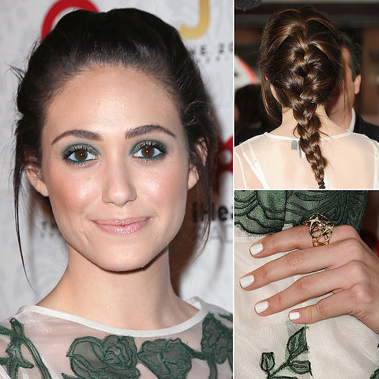 Emmy Rossum was in a Spring mood this week with her hair, makeup, and nails all hitting on top trends. Our readers obviously want to try out her style.