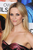 Reese wore her hair straightened with grown-out bangs parted in the center at the How Do You Know premiere. She paired the simple hairstyle with a soft smoky eye.