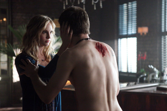 Candice Accola and Joseph Morgan on The Vampire Diaries.