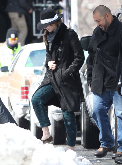 Jennifer Lawrence braved the snow on her way to shoot the untitled David O. Russell movie on Wednesday in Boston.