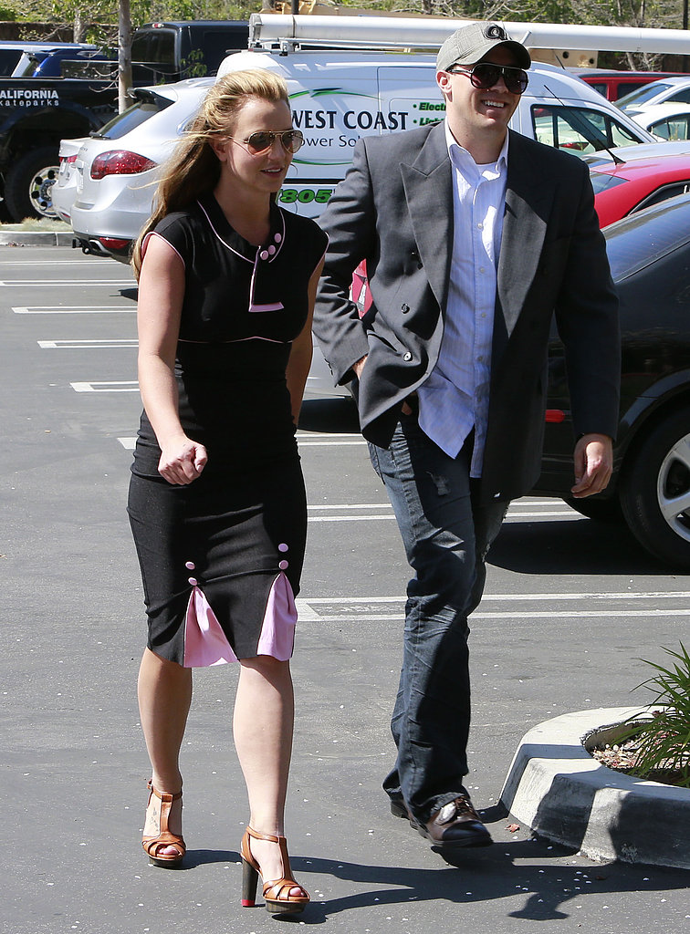 Britney Spears had David Lucado by her side in LA on Friday.