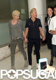 Ellen and Portia Greet a Giraffe Down Under