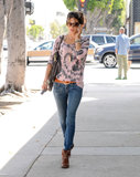 Alessandra Ambrosio shopped in LA.