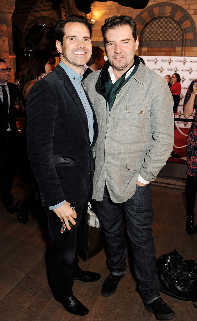 Jimmy Carr and Brendan Coyle chatted during the afterparty.