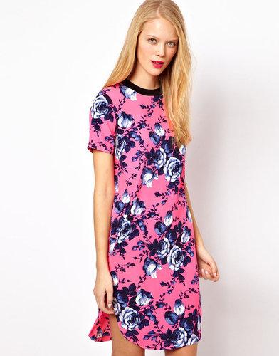 ASOS  T-Shirt Dress In Bright Floral Print