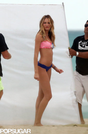 Candice Swanepoel wore a bikini for a photo shoot in Miami.