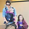 Maggie Gyllenhaal Lands in LA With Her Daughters | Pictures