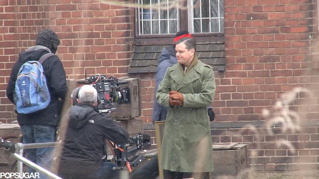 Matt Damon prepared to film a scene.