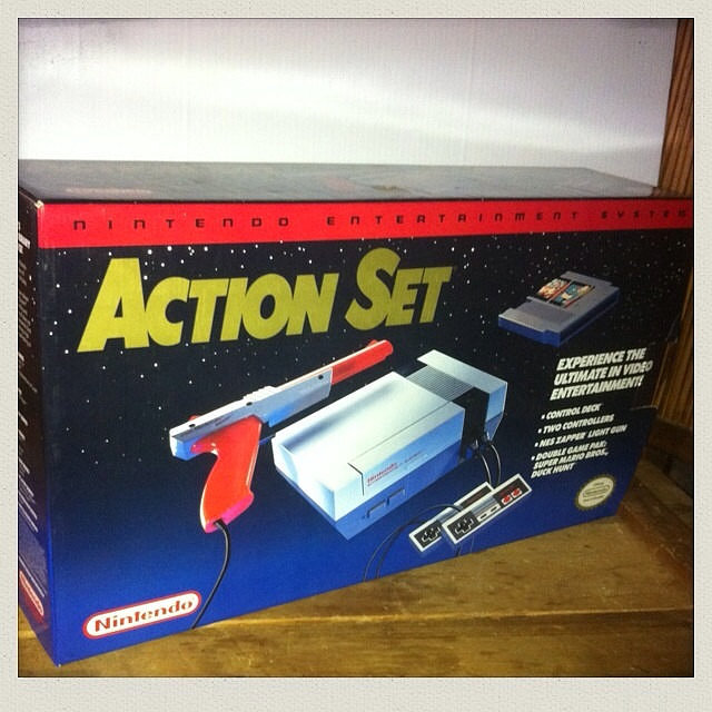 Remember when Duck Hunt sent you to the far reaches of the galaxy for your quest? Yeah, maybe that didn't happen in game play, but the original Nintendo Action Set Entertainment System packaging had players reaching for the stars.  Source: Etsy user AntiquesRevived