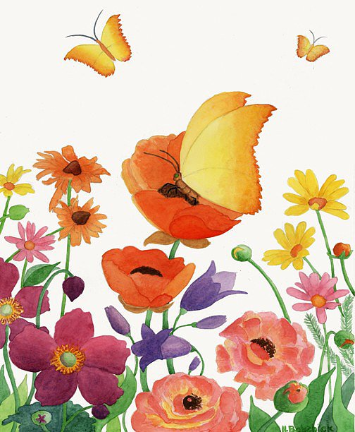 Bold shades give this bright butterflies print ($18) a beautiful, artistic look.