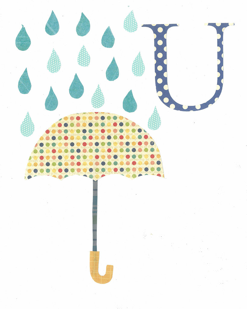 Customize this rainy letter print ($17) with your little one's initial for a sweet Spring style.