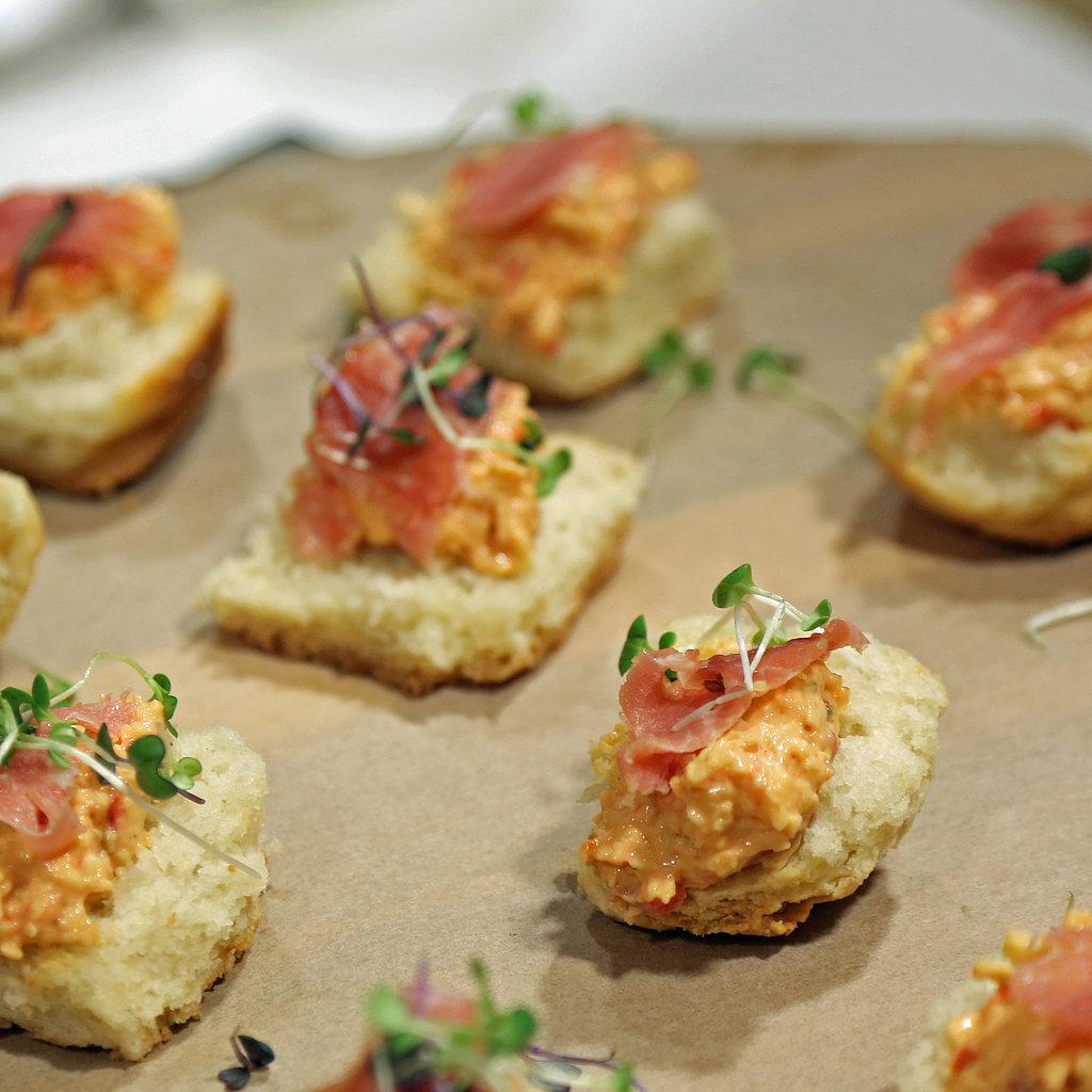 Open-Faced Pimiento Cheese Biscuit Sandwich
