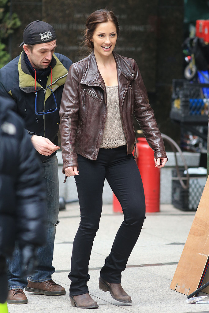 Minka Kelly filmed scenes for Human in Vancouver on Sunday.