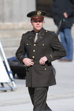 Matt Damon dressed the part at Palais am Festungsgraben in Berlin Monday to film scenes for The Monuments Men.