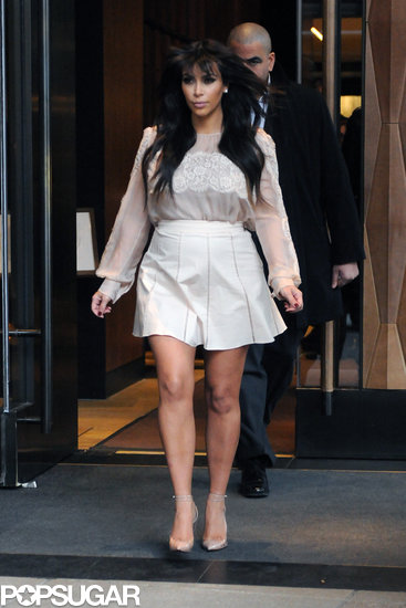Kim Kardashian left her hotel in NYC.