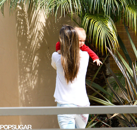 Alessandra Ambrosio picked up son, Noah, in LA.