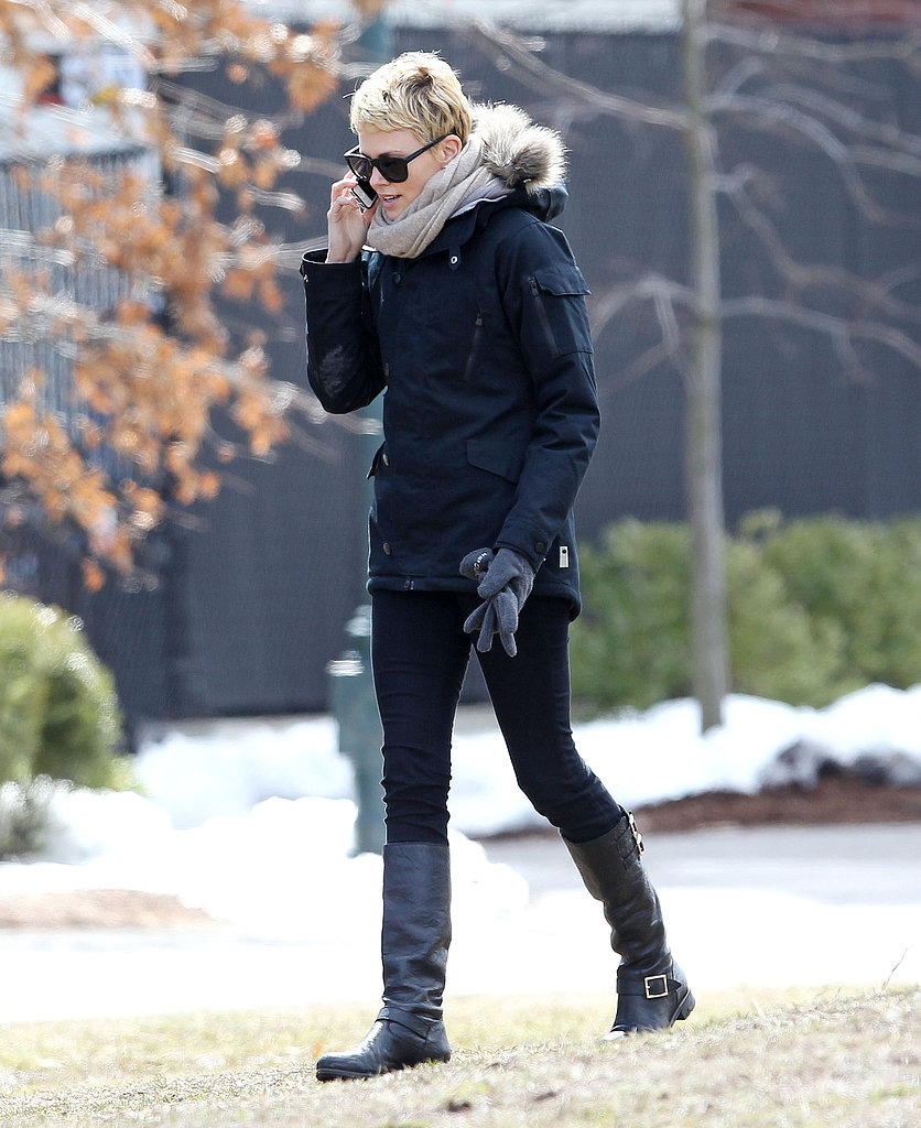Charlize Theron Grabs a Bite in Boston During a Set Break