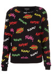 Topshop Comic Pop Art Sweater