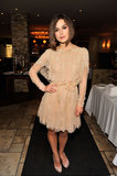 At the 2011 Toronto Film Festival, Keira looked lovely in a soft, nude Elie Saab Couture dress.