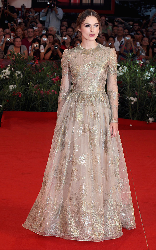 Keira had a modern-day fairy-tale moment in Valentino Couture at the Venice Film Festival in 2011.