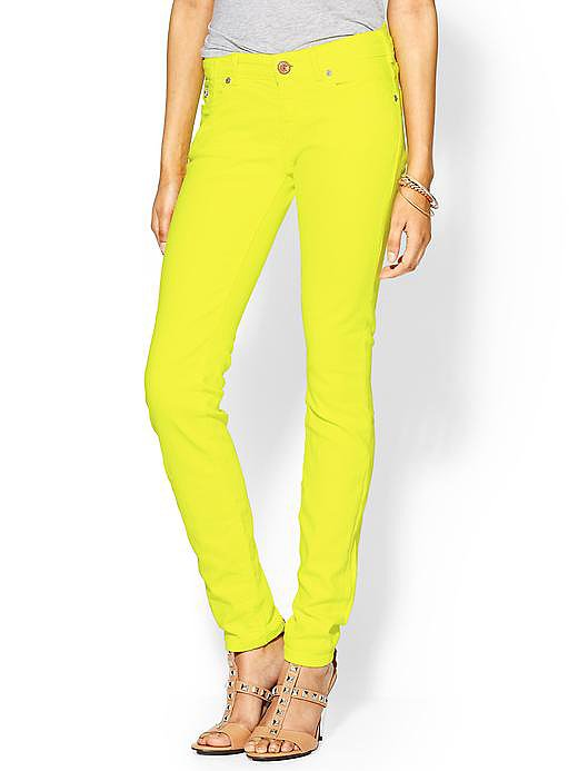 These Maison Scotch yellow skinny jeans ($136) would definitely be the center of attention in your outfit. Pair them with a casual gray or white tank to balance out the bright.